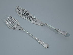 Victorian English London Fish Slice and Fork 1856