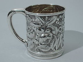 Antique Gorham Sterling Silver Christening Mug 1888