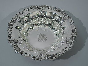 American Sterling Silver Chrysanthemum Bowl C 1900