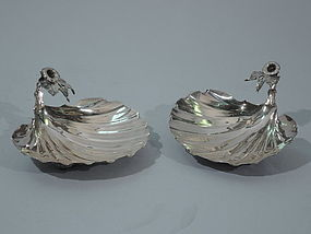 Gorham Sterling Silver Scallop Shells 1892