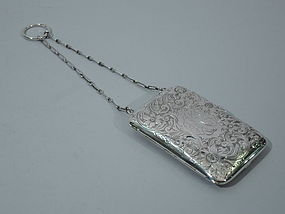 American Sterling Silver Wrist Compact Purse C 1910
