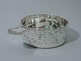 ABC Porringer - Sterling Silver with Alphabet C 1915
