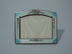 American Sterling Silver & Enamel Picture Frame C 1920