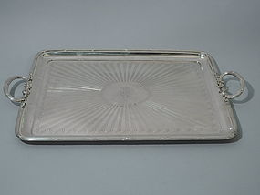 Antique Russian Silver Tray by Carl Faberge 1891