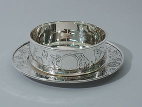Circus Cereal Bowl and Plate � American Sterling Silver