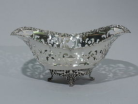 Tiffany Sterling Silver Footed Bowl C 1903