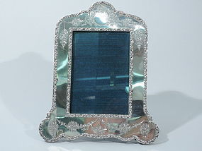 Edwardian English Sterling Silver Picture Frame 1904