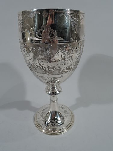 English Sterling Silver Goblet  - Large & Classical