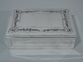 French Art Nouveau Silver Desk Box C 1910
