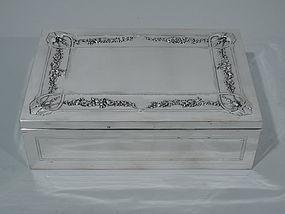 French Art Nouveau Silver Desk Box C 1910