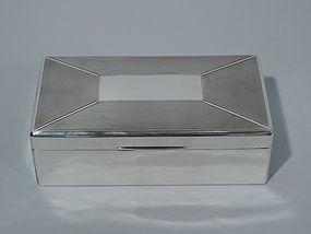 English Art Deco Sterling Silver Desk Box 1939