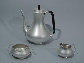 Danish Modern Sterling Silver Coffee Set C 1960