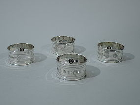 American Sterling Silver Napkin Rings C 1915