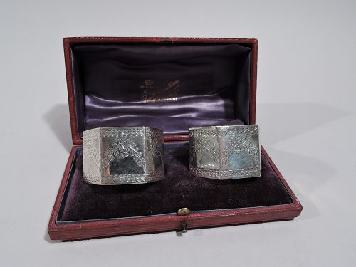 Pair of Antique English Sterling Silver Napkin Rings