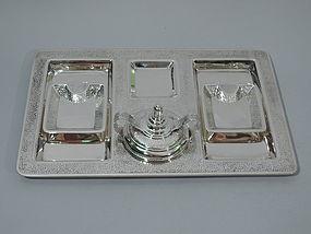 Tiffany Sterling Silver Smoking Set C 1916