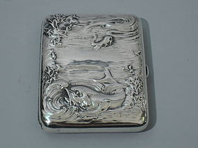 American Cigarette Case with Marine Motif C 1900