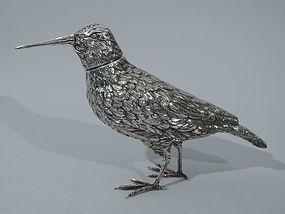 Snipe Spice Box - German Silver Bird C 1900
