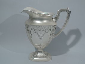 American Adams Sterling Silver Water Pitcher C 1910