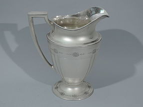 Tiffany Sterling Silver Ornamented Water Pitcher C 1911