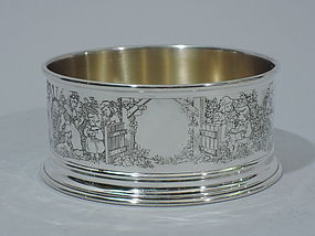 American Sterling Silver Children's Cereal Bowl C 1900