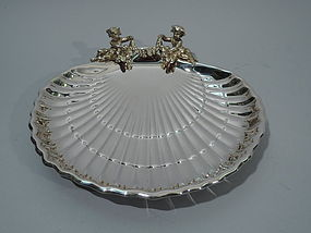 Gorham Sterling Silver Scallop Shell with Cherubs