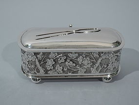 Chinese Export Silver Vanity Box C1900