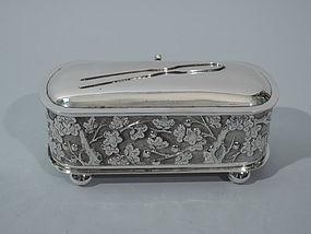Chinese Export Silver Vanity Box C1900