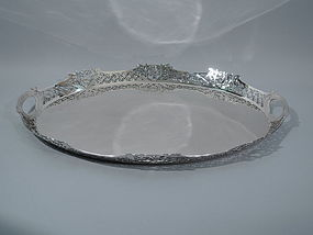 Edwardian English Sterling Silver Tea Tray 1910