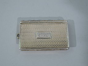 Regency Sterling Silver Novelty Vinaigrette in Book Form C 1820