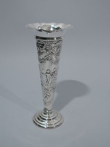 Edwardian English Sterling Silver Vase 1904