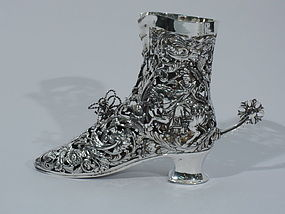 German Sterling Silver Lady's Riding Boot C 1906