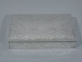 American Art Nouveau Sterling Silver Box