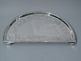 American Sterling Silver Highchair Tray with Nursery Rhymes