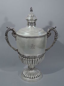 Classical and Monumental Sterling Silver Trophy Cup 1905