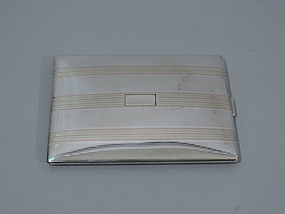 American Sterling Silver and Gold Cigarette Case C 1910