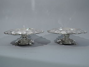 Pair of Gorham Sterling Silver Compotes - Beautiful & Heavy