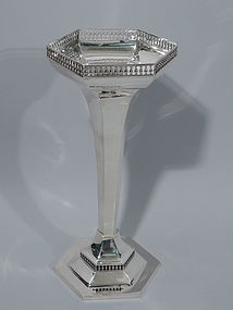English Art Deco Sterling Silver Vase 1914