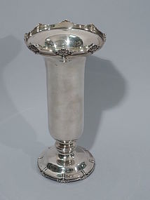 Pretty English Sterling Silver Vase 1929