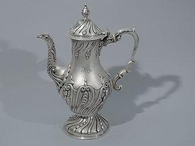 English Georgian Sterling Silver Coffeepot 1763