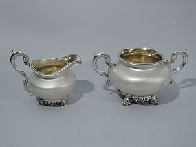 Midcentury Victorian - English Sterling Silver Creamer and Sugar