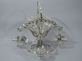 Beautiful Bailey, Banks & Biddle Pierced Basket Epergne C 1910