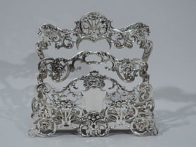 Sumptuous Sterling Silver Letter Rack by Gorham 1900