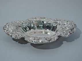 Pretty Sterling Silver Flower Bowl by Whiting C 1890