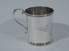 Early Tiffany Sterling Silver Baby Cup - by Grosjean & Woodward C 1860