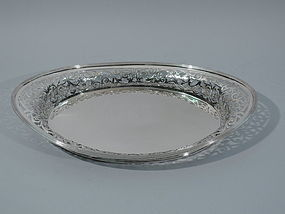 American Sterling Silver Serving Tray by Dominick & Haff 1889