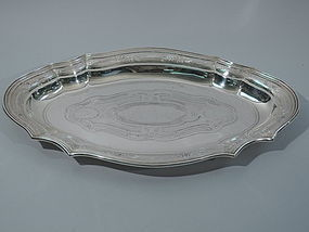 Antique Tiffany Sterling Silver Serving Tray - Medium C 1910