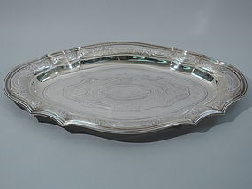 Antique Tiffany Sterling Silver Large Serving Tray C 1910