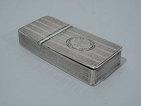 Victorian Sterling Silver Match Safe 1853