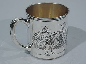 American Sterling Silver Baby Cup with Children's Parade