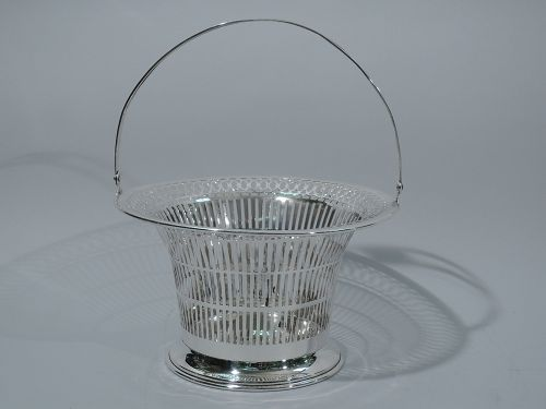 Antique American Sterling Silver Basket by Meriden Britannia